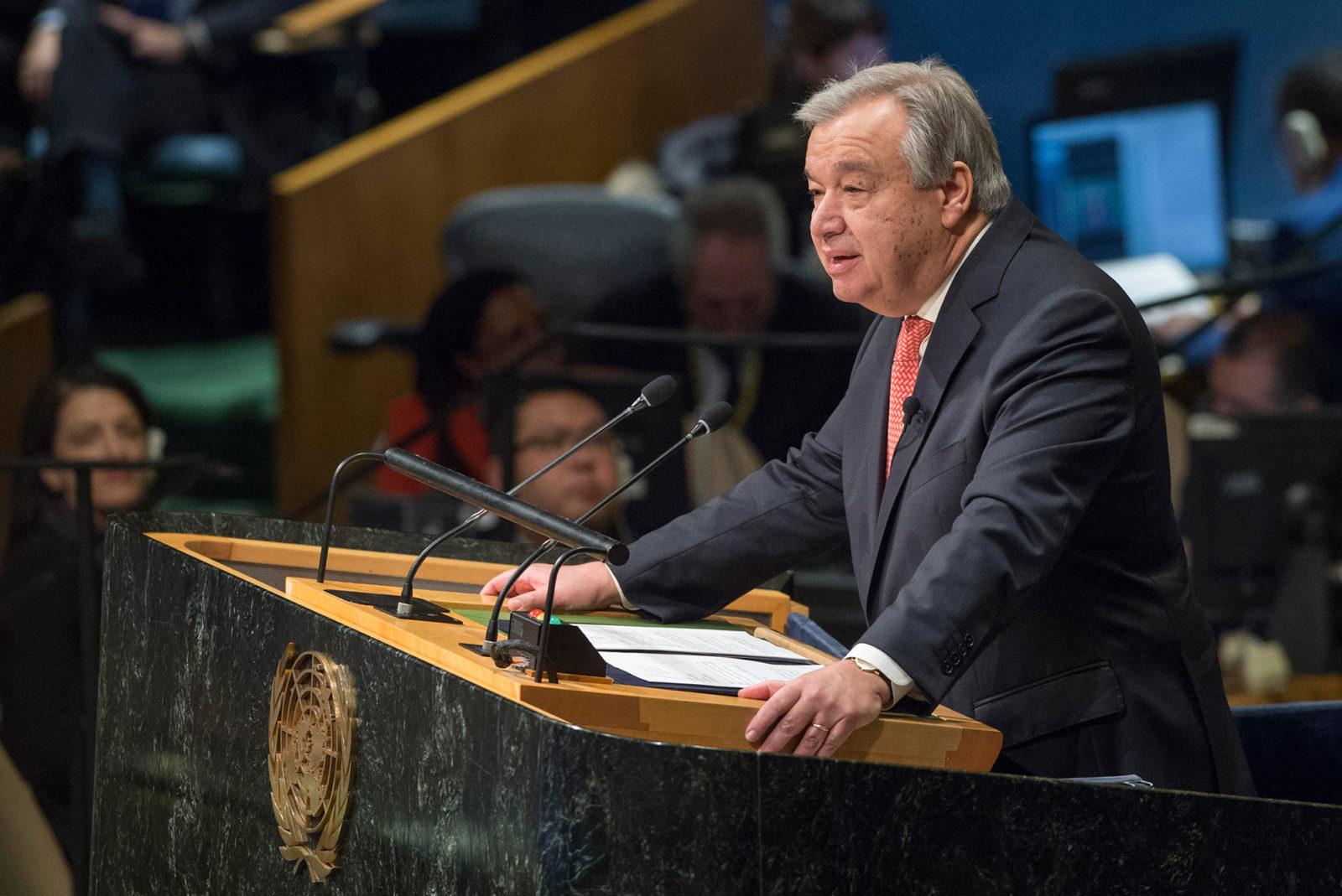 Antonio Guterres, nuovo Segretario generale dell'Onu.