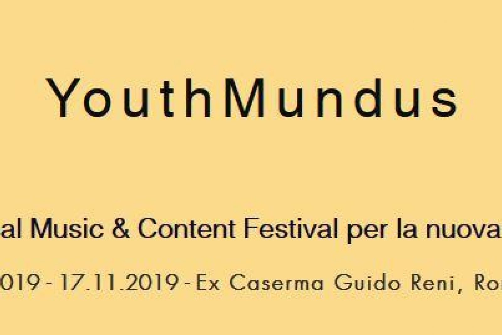 Youth Mundus, November 14-17, 2019